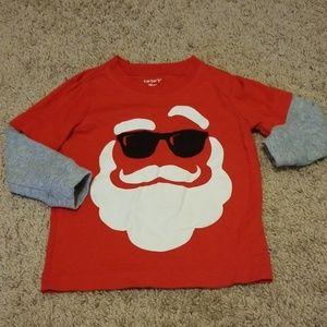 Carter's Santa shirt 18 month